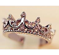 Fashion Crown Women's Transparent Rhinestone Statement Rings()(1 Pc)