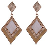 Lureme®Resin Diamond Dangle Earring
