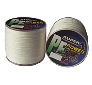 22-40LB 500M PE Braid White Fishing Line