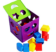 Colorful Shape Sorting Cube Educational Toy for Kids