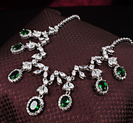 Jewelry Set Women's Gift / Party / Special Occasion Jewelry Sets Alloy Cubic Zirconia Necklaces / Earrings As the Picture