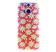 Kinston Chrysanthemum Pattern Tpu Soft Case for HTC one(m8)