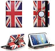"""Caso del modelo de 360 ° Rotating del estilo retro de la bandera del Reino Unido con el soporte para el Galaxy Tab 3 10.1 """"P5200 5210"""