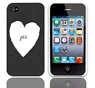 Sí Caso duro del diseño con el paquete de 3 protectores de pantalla para iPhone 4/4S