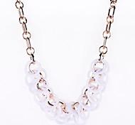 Circle Resin Beads Drop Necklace