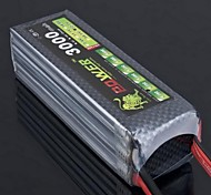Lion 22.2V 6S 3000MAH 25C Lipo Battery Power for Trex RC Helicopter 500 Model(T Plug)