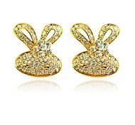 Lureme®Crystals Rabbit Earrings