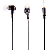 J903 3.5mm Stylish Zipper In-Ear Headphone with Mic(Black)