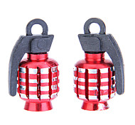 Motorcycle Valve Core Decorated Bolt - Landmine Red