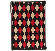 Red-white-and-black Grid Pattern PC Hard Case for iPad Air