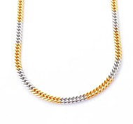 Fashion Gold and Silver Titanium Steel Chain Necklace