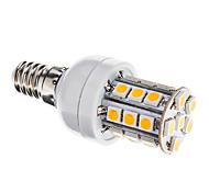 Bombillas Mazorca Regulable E14 3 W 27 SMD 5050 350 LM 3000-3500 K Blanco Cálido AC 110-130 V