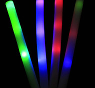 1PCS White Foam Made LED Glow Stick Concert World Cup Cheer Props(Powered By Battery Included,Random Color)