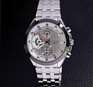 Longbo 8650 Men's Stylish Stainless Steel Band Analog Quartz Wrist Watch