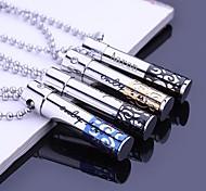 Персонализированные подарок ювелирных изделий полые из нержавеющей стали Гравировка кулон ожерелье с 60 см цепи