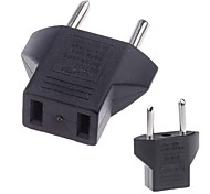 USA a spina di UE Travel Power Adapter Converter Nero
