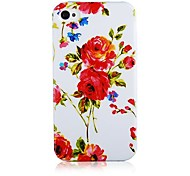Red Rose Pattern Silicone Soft Case for iPhone5/5S