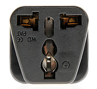 Universal Travel Power Adapter AC-Stecker (Schwarz, Stecker)