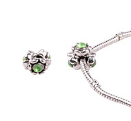 Green Alloy Whorled Big Hole DIY Beads For Necklace or Bracelet