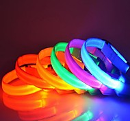 Cute Colorful Small  LED  Lights Collars  for Pet Dogs(Assorted Colors)