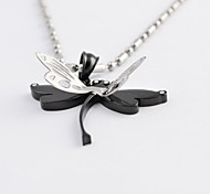 Fashion Flying Dragonfly Titanium Steel Pendant
