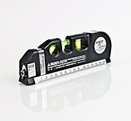 Infrared Laser Aligner Horizon Vertical Cross Line Measure Tape Ruler 8FT