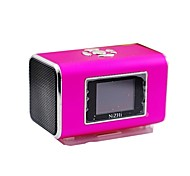 NIZHI TT6 Portable Mini Music Speaker MP3 Player with FM / TF Card Slot - Blue/Gold/Purple
