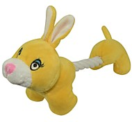 Cute Rope Body Yellow Rabbit Chewing Toy for Pets Dogs Cats