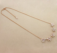 Opal Flower Choker Necklace