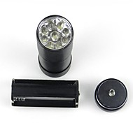 Hunterseyes 9 LEDs UV 395-400NM for Sterilize/ Cash/Anti-Fake  /Fluorescent Agent Detection  Flashlight Black