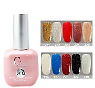 1PCS CH Soak-off Pink Bottle Astral Glitter UV Color Gel Polish NO.221-230(15ml,Assorted Color)