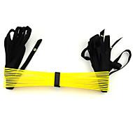 PP Plastic da aptidão estiramento Formação Ropes Escada - Amarelo