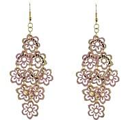 Flower Pattern Chandlier Earrings