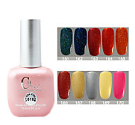 1PCS CH Soak-off Pink Bottle Astral Glitter UV Color Gel Polish NO.161-170(15ml,Assorted Color)