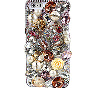 Colorful Jewel Covered Back Case for iPhone 5/5S