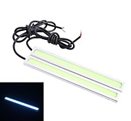Impermeabile 6W 220lm 6000K 60-COB LED auto Daytime Running Light Strip Bar (12V / 14 centimetri)