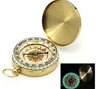 Flip-Open chapado en oro noctilucent Pocket Compass