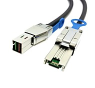 External Mini SAS 4x SFF-8088 to mini sas High Density HD SFF-8644 data server Raid Cable 100cm