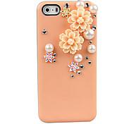 Caso 3D fiore decorato per iPhone 5/5S