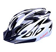 FJQXZ EPS + PC noir et blanc moulé solidairement Casque de vélo (18 Vents)