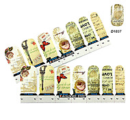 4x7PCS Gnade Nostalgie von Paris Nail Art Sticker