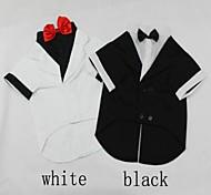 matrimonio e abito formale con bowknot per cani di grossa taglia (varie dimensioni, colori)