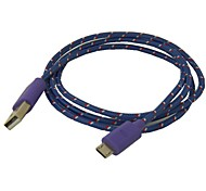Details about  3ft Braided Fabric Micro USB 2.0 Data Charger Cable For Samsung Galaxy Note2 S3/S4   Purple