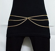 Shixin® Fashion Three Chains Women Gold Alloy Body Chains(86Cm*2Cm*1Cm)(1 Pc)