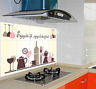 doudouwo ® Fashion Das Weinglas Welt Anti-Öl-Wandaufkleber