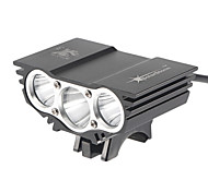 X3 4-Mode 3xCree XM-L T6 Rechargeable Bike Lights(4x18650,2700LM,Black)