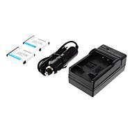 ismartdigi-Nik EN-EL10 (2pcs) 750mAh, cargador 3.7V batería de la cámara + Car para NIKON S3000 S200 S500 S700 S5100 S4000
