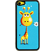 Giraffe felice con il fiore in bocca Pattern Hard Case PC Shimmering per iPhone 5C