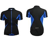 Jaggad Cycling Jersey Summer Unisex Black Blue Polyester Spandex Rear Zipper Pocket Cycling Jersey