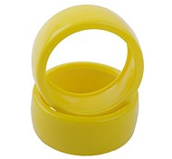 60mm Rubber Tyre for RC 1:10 Car in Yellow (2 pcs)